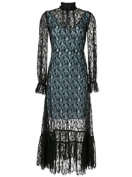 Ck Calvin Klein Sheer Lace Dress Black