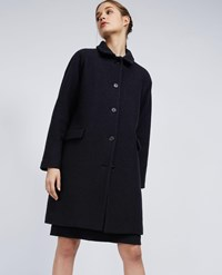 Aspesi Boiled Wool Coat Black