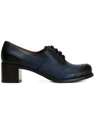 Chie Mihara Chunky Heel Lace Up Shoes Blue