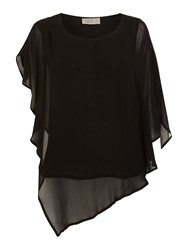 Label Lab Aro Oversized Sleeve Blouse Black