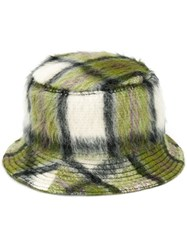Natasha Zinko Check Bucket Hat Green