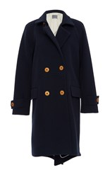Maiyet Double Breasted Coat Navy