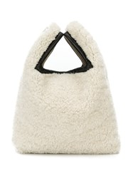 Simonetta Ravizza Slouchy Mini Bag White