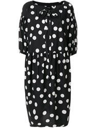 Aspesi Polka Dot Dress Black