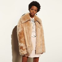 Coach Apr S Ski Shearling Coat Chai