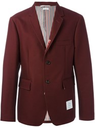 Thom Browne Logo Patch Blazer Red