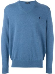Polo Ralph Lauren V Neck Sweater Blue