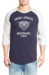 Brixton Men's Rydell Baseball T Shirt