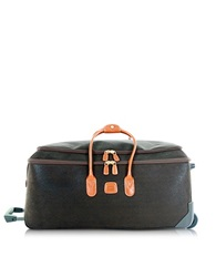 Bric's Life Large Olive Green Micro Suede Rolling Duffle Bag
