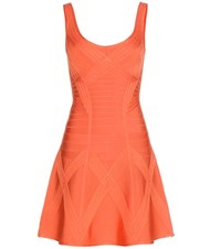 Herve Leger Dasha Bandage Dress Orange