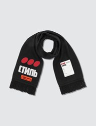 Heron Preston Dots Ctnmb Scarf Black