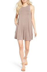 Socialite Women's High Neck Dress Tan