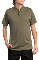 Rvca Sure Thing Ii Polo Olive