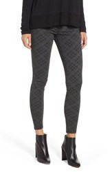 Wit And Wisdom Ab Solution Double Zip Ankle Skinny Jeans Charcoal Grey Bias Plaid