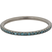 Ileana Makri Blue Diamond And Oxidized White Gold Thread Band