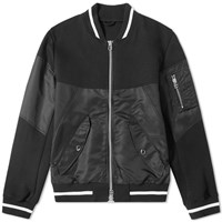 Sophnet. Fabric Mix Bomber Jacket Black