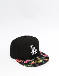 New Era 59Fifty La Snapback Cap With Tropical Visor Black