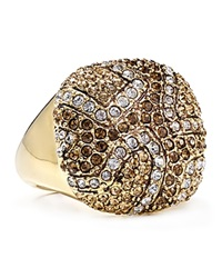 Abs By Allen Schwartz Pave Square Ring Gold Multi