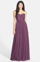 Women's Jenny Yoo 'Annabelle' Convertible Tulle Column Dress Raisin