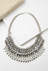 Forever 21 Teardrop Statement Necklace B.Silver