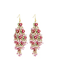 Chamak By Priya Kakkar Diamond Shape Tiered Earrings