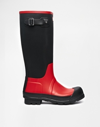 Hunter Original Contrast Wellies Red