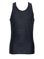 Roberto Cavalli Stretch Cotton Blend Jacquard Tank Top Black