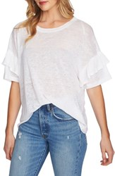 1.State Ruffle Linen Tee New Ivory