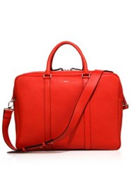 Paul Smith Leather Briefcase Red
