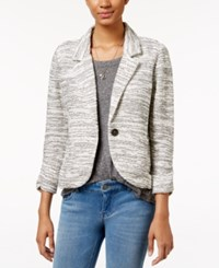 American Rag One Button Knit Blazer Only At Macy's Off White