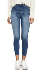 Dl1961 Chrissy Cropped Ultra High Rise Skinny Jeans Huron