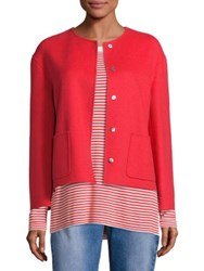 Max Mara Mirte Doppio Short Wool Jacket Red