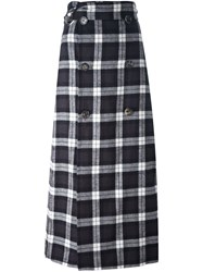 Each X Other Checked Skirt Black