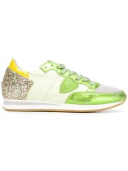 Philippe Model Glitter Sneakers Green