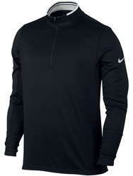 Nike Men's Dri Fit Half Zip Jumper Black