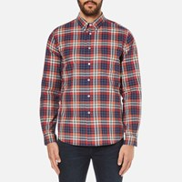 Paul Smith Ps By Men's Checked Long Sleeve Shirt Red