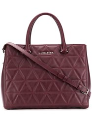 Lancaster Embossed Quilt Tote Bag Red