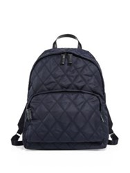 Prada Quilted Laptop Backpack Black Blue