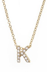 Bony Levy 'S Pave Diamond Initial Pendant Necklace Nordstrom Exclusive Yellow Gold