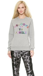 Markus Lupfer Welcome To The Jungle Belinda Sweatshirt Grey Marl