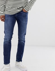 Scotch And Soda Tye Slim Carrot Fit Mid Blue Wash Jeans