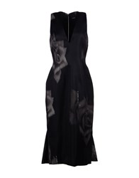 Josh Goot 3 4 Length Dresses Black