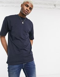 Only And Sons Boxy Fit T Shirt In Navy