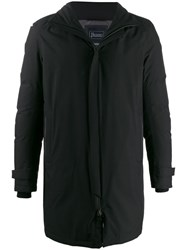 Herno Stand Up Collar Coat Black