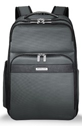 Briggs And Riley Men's Transcend 400 Cargo Backpack Grey Slate Grey