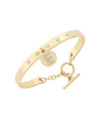 Bcbgeneration Say My Name Glass Stone E Toggle Bracelet Gold