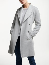 John Lewis Funnel Wrap Coat Grey