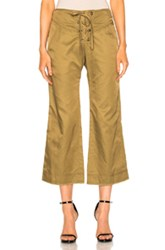 Marissa Webb Parker Cropped Pant In Green