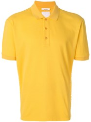 Valentino Rockstud Polo Shirt Yellow And Orange