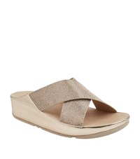 Fitflop Crystall Slide Sandals Female Gold